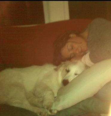 Kar and Frannie enjoying at nap at Grammie Allard's. (2011)